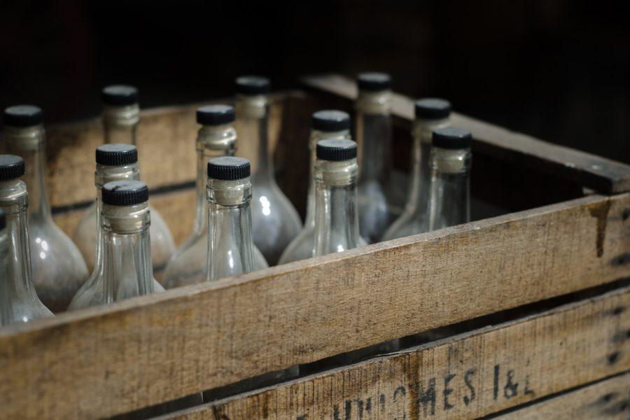 Skrzynka z alkoholem